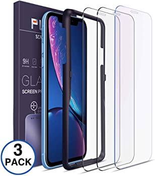 3 Pack Tempered Glass Screen Protector Compatible for iPhone XR