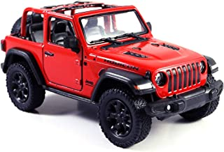 HCK Jeep Wrangler Rubicon 4x4 Convertible Off Road Exploration Diecast Model Toy Car Red