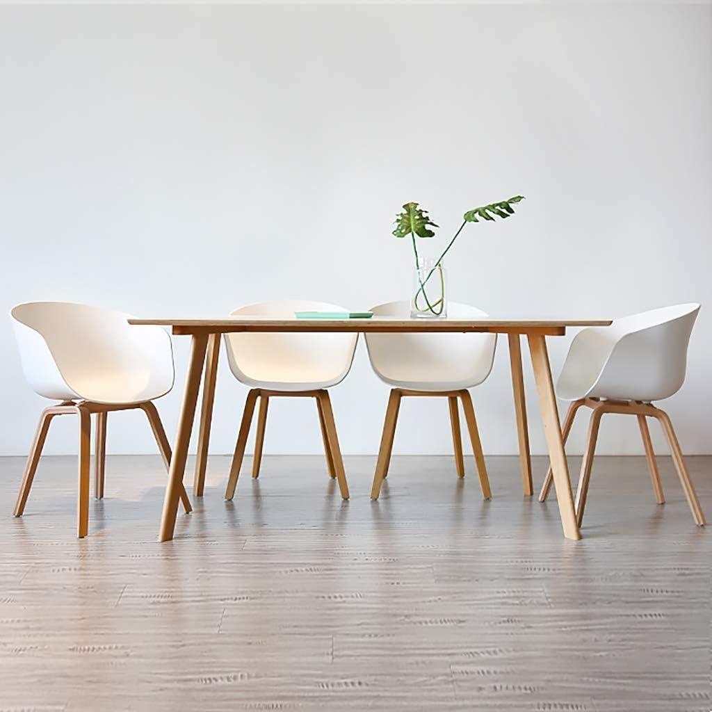 HELIn Conception ergonomique de fauteuil moderne de chaise en bois massif de chaise, for le restaurant/bureau/compteur/famille (Color : Black) White