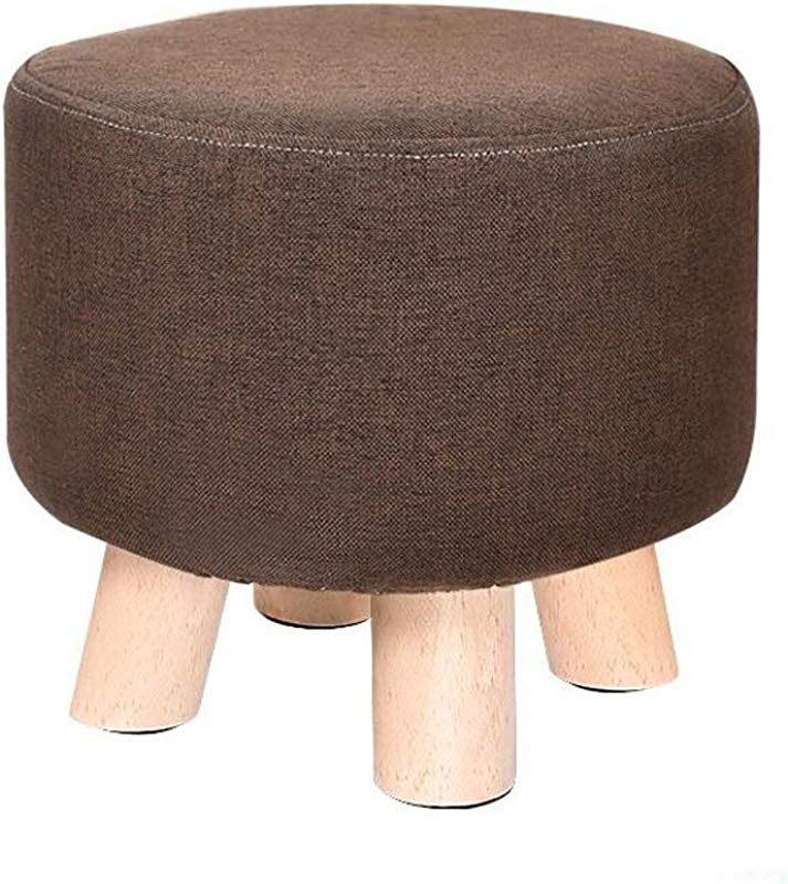 Carl Artbay Wooden Footstool Brown Stool Set Woody Four Legged Stool Low Stool Creative Child Home