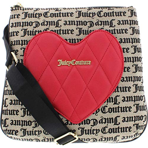 Juicy Couture Heartbreaker Large Crossbody Beige/Black Gothic One Size