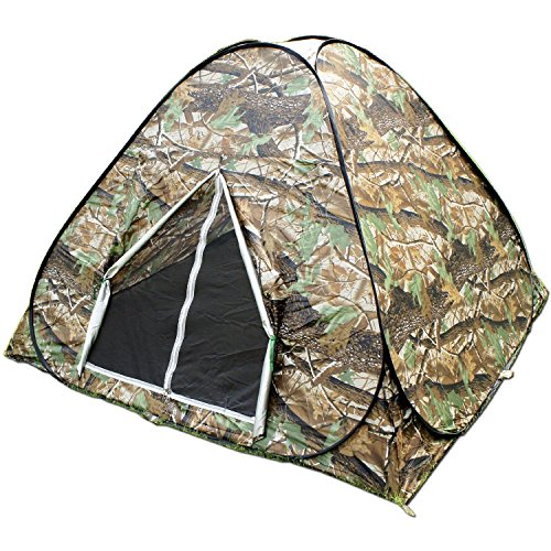 BZTANG Explorer Outdoors 3-4 Persons Camouflage Camping Hiking Easy Setup Instant Pop up Tent