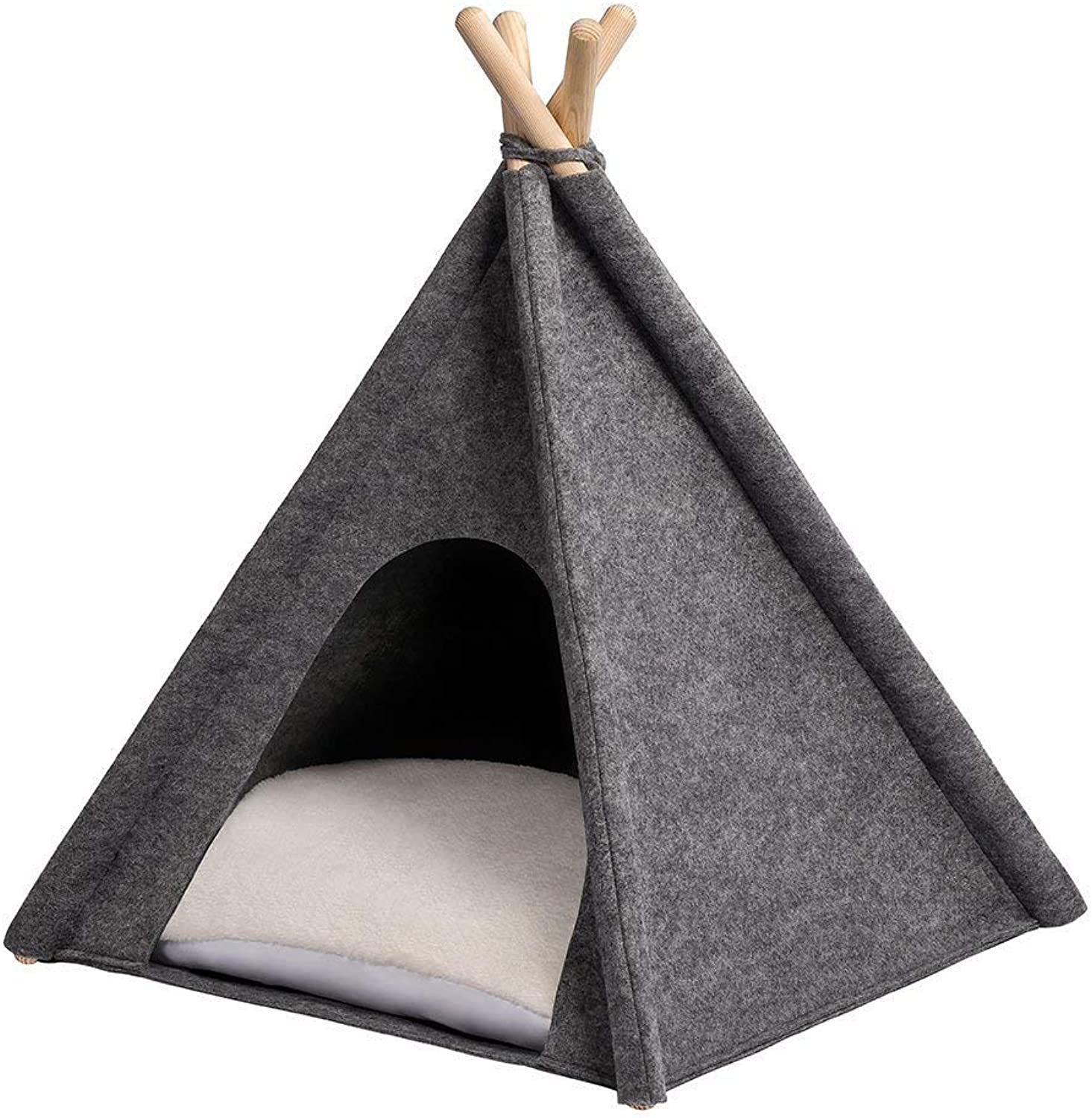 ANIMALY Tipi is A Pet Tent of 24  x 28  (Height), a Tent for Dogs & Cats, A Bed, A House, A Tipi for Dogs & Cats with A Removable Pillow, Attractive Look.