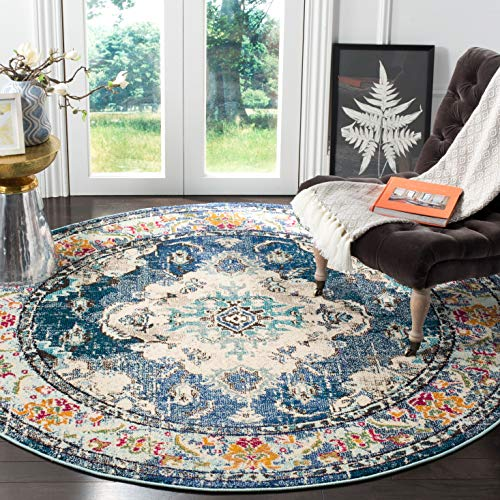 Safavieh Monaco Collection MNC243N Boho Chic Medallion Distressed Non-Shedding Stain Resistant Living Room Bedroom Area Rug, 5