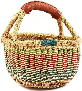 "Fair Trade Ghana Bolga African Confetti Mini Market Basket 7-9"" Across, 52049"