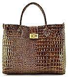 Cuir-Destock sac à main porté main et bandoulière cuir façon croco vernis modèle...
