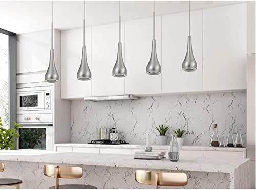 wholesale Cal Lighting UP-1117 Transitional LED Pendant online sale from Kornos Collection in lowest Pewter, Nickel, Silver Finish, 3.00 inches outlet online sale