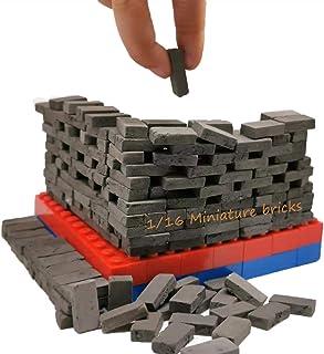MOMAA 1/16 Miniature Brick-Scale Wall Bricks Mini Bricks Model Sand Table Micro Landscape Accessories DIY Dollhouse Bricks...