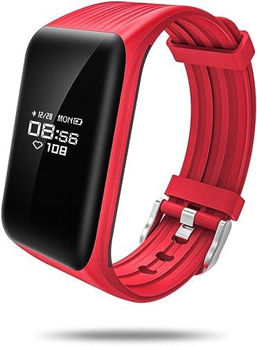 Yuanyuanliu Bracelet Intelligent continu Dynamique fréquence Cardiaque Surveillance du Sommeil IP68 étanche (Couleur   rouge)