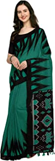 Rajnandini Linen with Blouse Piece Saree (JOPLNB3047F_Blue and Black_Free)