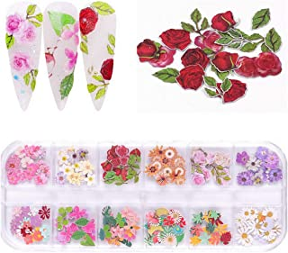 CCINEE Color Small Wood Pulp Piece Nail Art Jewelry Set-1box (Flower Styles)