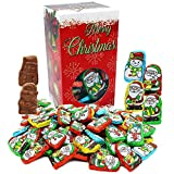 Christmas Milk Chocolate Santa Helpers, Party Bag Fillers, Individually Wrapped Foils, Kosher Certified, 1 Pound