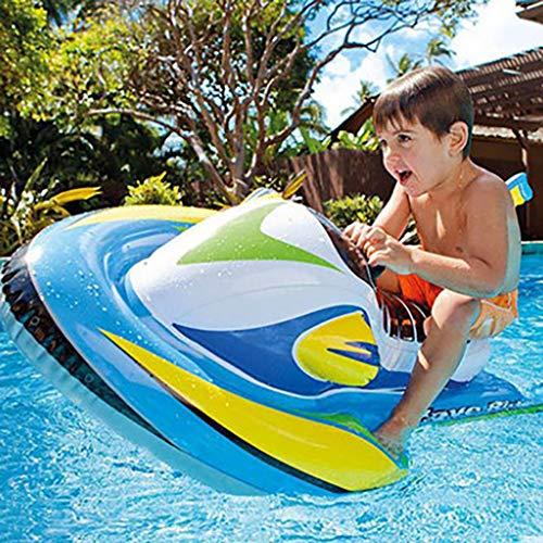 ToDIDAF Schwimmbad schwimmt für Kinder, Schwimmbadzubehör, Cartoon-Schwimmring, Wasser aufblasbares Spielzeug, schwimmendes Bett, geeignet für Sommerurlaub / Poolparty / Reisen (Schnellboot)