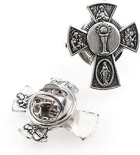 Spille Alla Moda Spille Santo Graal San Cristo Distintivi In Metallo Piccione Croce Spille Da Bavero Per Cothes Gioielli...