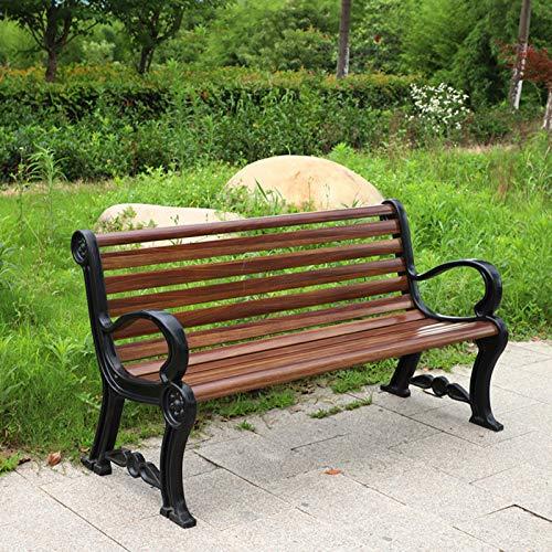 GUARD Banco De Jardín FRP, 120cm / 150cm, Banco De Parque Al Aire Libre del Patio con/Sin Respaldo, Marco De Hierro Fundido Resistente Y Duradero