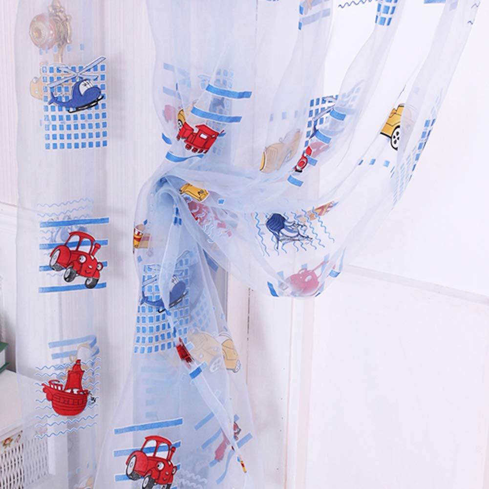perlo33ER Cortinas De Tul De Coche De Dibujos Animados para Niños Cortina De Pantalla De Ventana De Comercio Exterior Ebay AliExpress Cortinas Calientes Azul: Amazon.es: Hogar