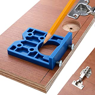 35mm Concealed Hinge Boring Jig Wood Furniture Door Cabinets Hinge Installation Tool Hinge Hole Drilling Guide For Carpentry ABS Plastic