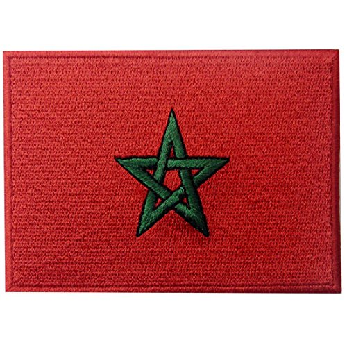 Marokko-Flagge Bestickter Marokkanisch Aufnäher zum Aufbügeln/Annähen