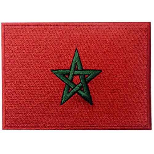 Bandera de Marruecos Marroquí Parche Bordado de Aplicación con Plancha