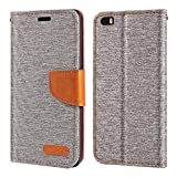 Cubot X16 Case, Oxford Leather Wallet Case with Soft TPU