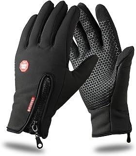 Touch Screen Gloves, Mothca Outdoor Men and Women Windproof Smartphone Touchscreen Gloves Waterproof Winter Warm Adjustabl...