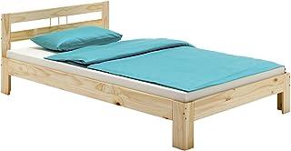 IDIMEX Lit Simple Theo 100 x 200 cm lit pour Enfant en pin Massif Vernis Naturel, avec tête de lit