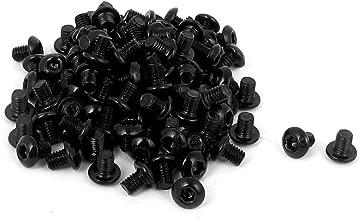 uxcell M3x4mm Thread Button Head Hex Socket Cap Screw Bolt 100pcs