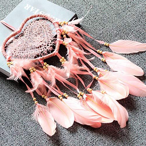 ?  ?Elegant färg drömfångare hängande prydnad ihålig med hjärta form dekoration födelsedag present kontor för vägg dekor