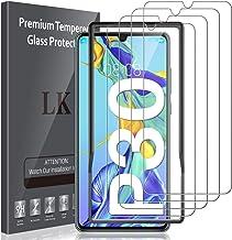 LK 4 Pièces Verre Trempé Compatible avec Huawei P30 (6.1 Pouces), Protection écran,Cadre d'installation Facile,Dureté 9H ecran Protection,Protection d'écran Verre Trempe vitre Protection