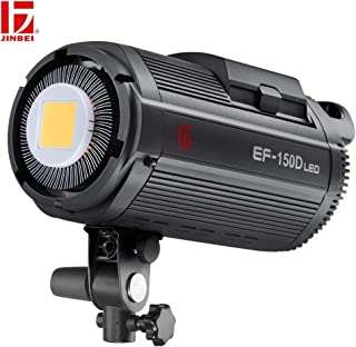 JINBEI EF-150W 150Ws Qa95 5500/±200K Bowens Mount Led Continuous Video Light,Wirelessly Adjust Brightness 2.4GHz Grouping System,for Video Recording,Wedding Shooting