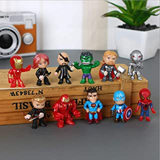 12PCS The Avengers Cake topper ,Super hero cake topper Children Shower Birthday Party Supplies. Mini action figures, organ...
