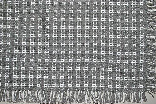 18 X 18 Hand Loomed Homespun Napkins (Set of 4) Gray/White