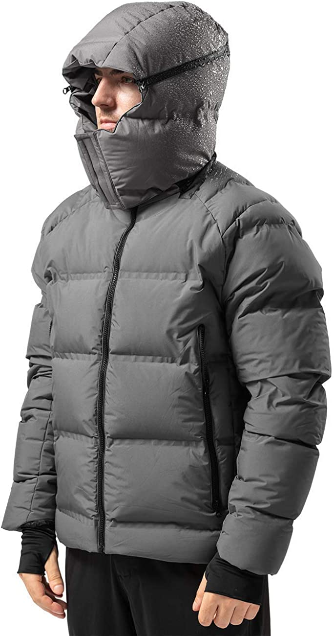 Men's Thickened Down Jacket Super Warm Winter Puffer Jacket Snow Coat Hooded,800 Fill Power