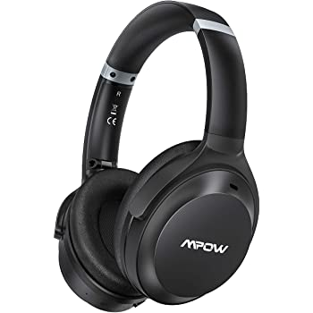 Mpow H12 IPO Active Noise Cancelling Headphones, Bluetooth Headphones Over Ear with Type C, CVC 8.0 Mic, Hi-Fi Deep Bass, 40H Battery, Wired/Wireless Headsets for Kids, Adults, Online Class, Office