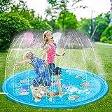 Dricar Alfombrilla de juego de agua para rociar y salpicar, 68 pulgadas, grande para niños al aire libre, juguetes inflables de agua para rociar agua rociadora almohadilla de verano