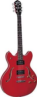 Oscar Schmidt OE30CH Classic Semi-Hollowbody Cutaway Electric Guitar with 2 Humbucking Pickups - Cherry Stain