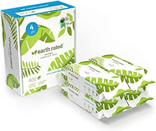 Earth Rated Dog Wipes, Plant-Based and Compostable Wipes...