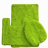 Daniel's Bath Daniel's Bath & Beyond 3 Piece Solid Luxury Bath Mat, Lime Green, 3 Count