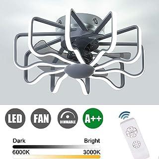 RUIXINBC Ventilador De Techo LED con Iluminación Y Control Remoto, Velocidad del Viento Ajustable, Luz De Ventilador De Techo De Sala De Estar Moderna Ajustable De 112W