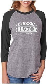 Tstars 50th Birthday Gift Womens Shirt 1970 Edition 3/4 Women Sleeve Raglan Shirt