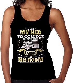 RHEYJQA I Sent My Kid to College Fabric Women's Vest