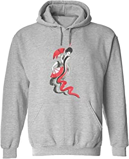 CCANE7 Men's Sudadera con Capucha Personalizada Janpanse Showgirl Divertido gráfico Sudadera con Capucha