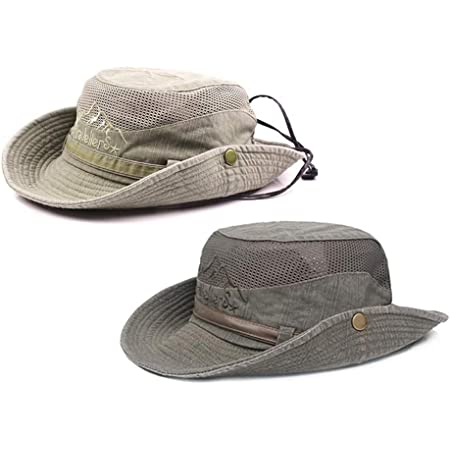 Obling Sun Hat UV Protection Bucket Hat Summer Hats Beach Hat Safari Boonie Hat Foldable Fishing Hat with Breathable Mesh and Adjustable Chin Strap for Men Women