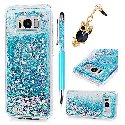 mollycoocle Galaxy S8Schutzhülle, Luxus Bling Glitzer Sparkle Puder Transparent Weiche TPU Love...