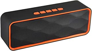 KJRJL Wireless Bluetooth Speaker, Bluetooth 4.0 Speaker, Handsfree Call Speaker Outdoor Stereo Speaker with HD Audio and Enhanced Bass with FM Radio Function (Color : Orange)