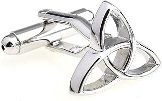 MRCUFF Presentation Gift Box Trinity Pair Triquetra Triangle Holy Celtic Cufflinks & Polishing Cloth