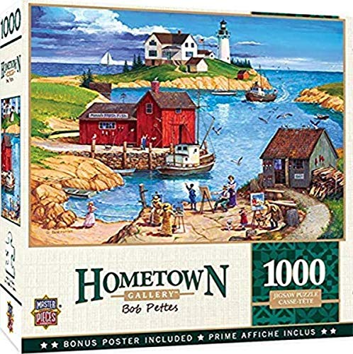 MasterPieces Hometown Gallery - Ladium Bay - 1000 Piece Jigsaw Puzzle