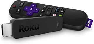 Roku Streaming Stick | Portable, Power-Packed Player with Voice Remote with TV Power and Volume (2017) (Renewed)