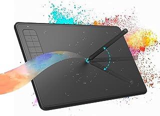 【2021入神のわざ】hemker 9.4*6.1 Inchの大面積の製図板 ペンタブレット 超薄型の製図板 数字製図板 バンド 8192級 電池フリー 手書きペン Windows7/8/8.1/10/Mac OS/Android対応