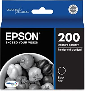 Epson Genuine 200 (T200120) DURABrite Ultra Black Ink Cartridge 2-Pack